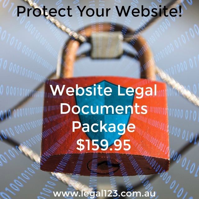 protect your website with legal123 website legal business package