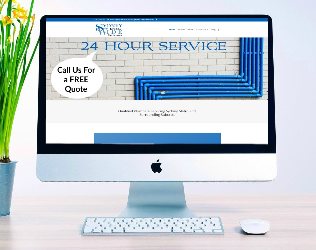 Sydney Wide Plumbing and Maintenance website design by belinda web designs