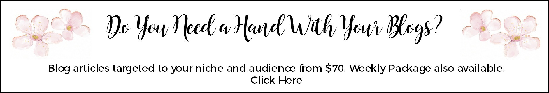 do you need a hand with your blog writing