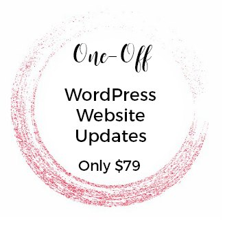 WORDPRESS once off website updates order now
