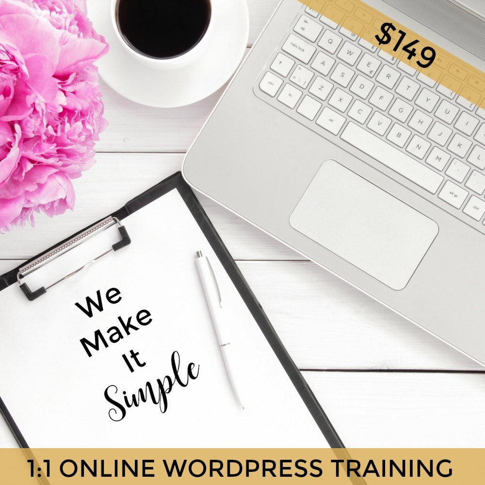 one on one online wordpress training skype zoom brisbane web desginer