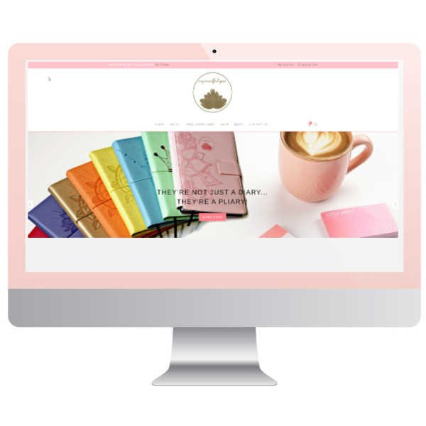 Simply beautiful ecommerce website design by Belinda Owen web designer brisbane