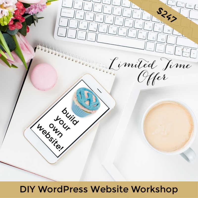DIY wordpress website workshop hosted by Belinda Owen